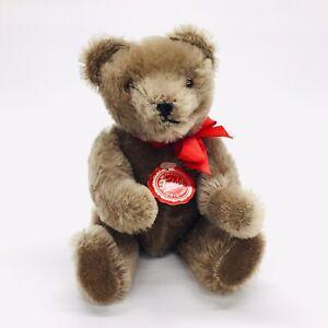Hermann-Teddy-Original-8-034-Mohair-Gray-Brown-Teddy-Bear-Red-Tag-Made-West-Germany