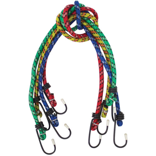 "36/"" LONG HEAVY DUTY BUNGEE CORD CARABINER CLIPS ROPE HOOKS STRETCH TIE LOOP CORD"