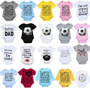 55448b3be1d5 Infant Baby Girl Boy Long Sleeve Letter Print Clothes Jumpsuit ...