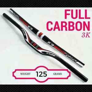 Mountain-bike-handlebar-Flat-Rise-3K-FULL-CARBON-bicycle-handlebars-MTB-XRIDE