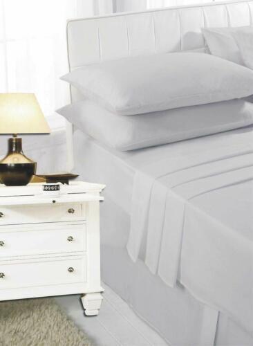 Luxury Non Iron Poly Cotton Plain Flat Sheet Single Double Super King King