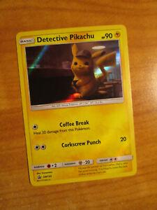NM-Pokemon-DETECTIVE-PIKACHU-Card-BLACK-STAR-PROMO-Set-SM190-Holo-Movie-Pack