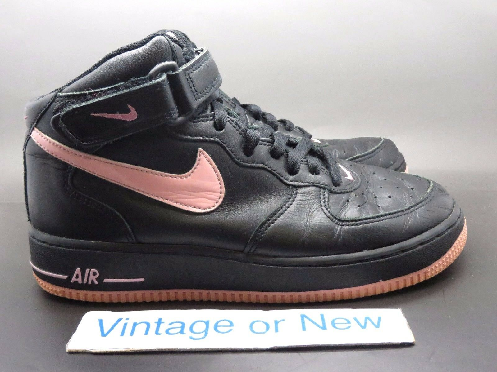Women's Nike Air Force 1 Mid Black Pink 2018 Price reduction