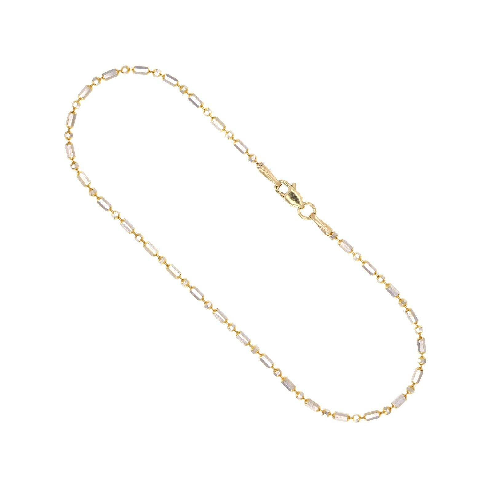 Gold ball bead anklet