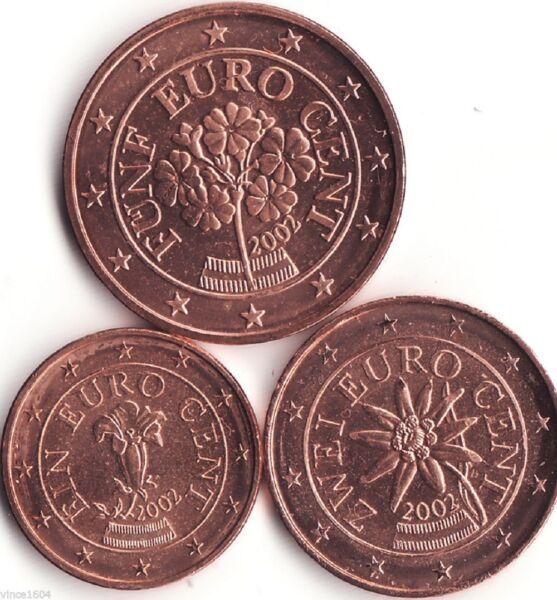 DernièRe Collection De 1c, 2c Et 5 Cents Autriche 2006. Unc Calcul Minutieux Et BudgéTisation Stricte