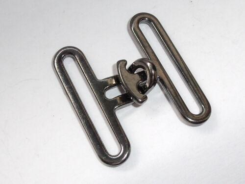 2 Stück Hakenverschlüsse Verschluss  26 mm anthrazit  NEUWARE  rostfrei #822#