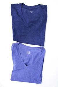 J-Crew-Womens-V-Neck-Short-Sleeve-Tee-Shirt-Blue-Size-Extra-Extra-Small-Lot-2