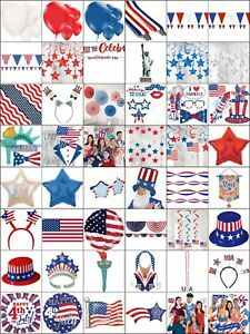 Image Is Loading 4th July USA Party Decorations America Summer Birthday