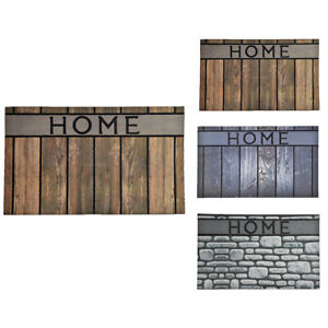 Evideco Modern Outdoor Front Door Mat Home Rubber Rug 30x18 Inch Brown Or Gray Ebay