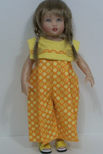 2pc YELLOW ORANGE Jumper Pants w//SANDALS Doll Clothes For Helen Kish Riley Debs