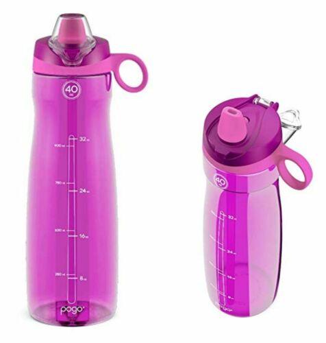 Tritan Water Bottle with Soft Straw Fuchsia Water Soft Bottle Folding Flask Cup