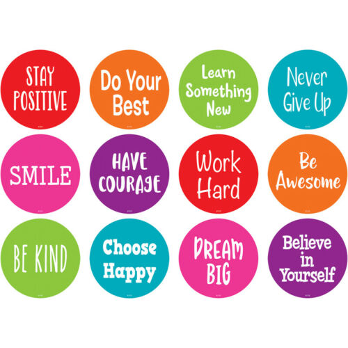 TEACHER CREATED RESOURCES 77509 POSITIVE SAYINGS FLOOR MARKERS 4