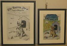RARE Original MORGAN DENNIS DOG Boston Sunday Post Cover Illustration & Painting