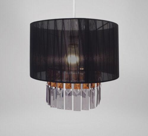 Ruban /& Gems Lustre Ajustement Facile Chic plafond abat-jour Suspendu lustres