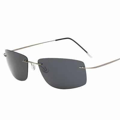 Men Polarized Titanium Sunglasses Polaroid Silhouette Driving Outdoor Glasses