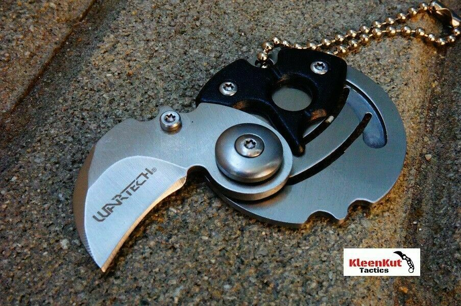 NEW Wartech® 2.5″ Black Folding Coin Pocket Knife Keychain Manual Open Mini EDC