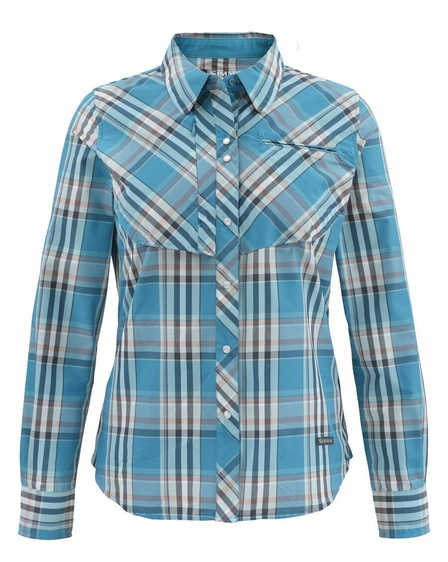 Simms Donna BIG SKY Long Sleeve Shirt ~ Lagoon Plaid NEW ~ XL ~ CLOSEOUT