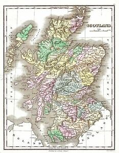MAP-ANTIQUE-1827-FINLEY-SCOTLAND-OLD-HISTORIC-LARGE-REPLICA-POSTER-PRINT-PAM0283
