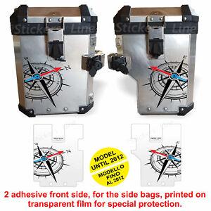 Adesivi valigie BMW R1200GS Rosa dei Venti borse ANTERIORE bags stickers 2012