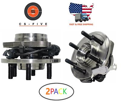 2X Front Wheel Hubs /& Bearings Pair Set of 2 for Dakota Durango 4WD 4x4 w// ABS