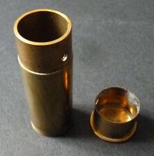 Tube Porte-Louis ? en laiton boite pour pièces d'or Napoléon 19e siècle