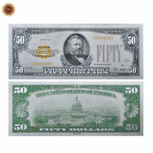 WR-1928-US-50-Fifty-Dollar-Bill-Note-Silver-Currency-Money-Rare-Collection