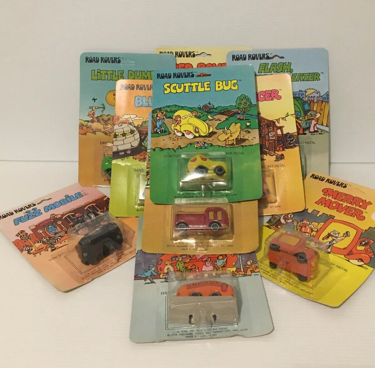ROAD ROVERS FULL SET OF 10 FROM 1974 MADE IN HONG KONG