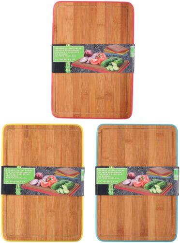 Schneidebretter  Holz aus Bambus Tranchierbrett Küchenbrett Holzbrett 23 x 33