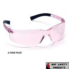 PINK LENS SIZE SMALL SAFETY GLASS WOMEN YOUTH PYRAMEX MINI ZTEK S2517SN (6 PAIR)