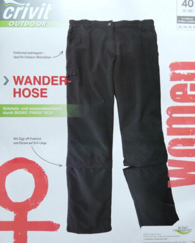 Damen Trekkinghose 2in1 Lang 3//4 Lang Trekking Hose Wanderhose Zipp Off  NEU