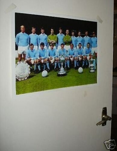 Manchester City Team Group NEW Poster Champions