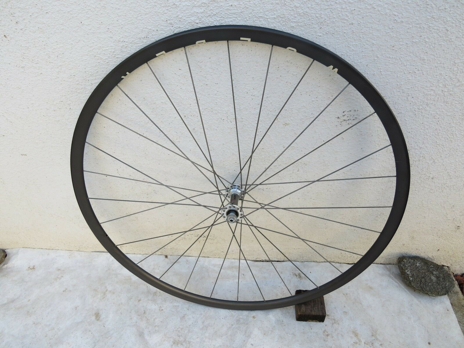 NOS HOPE TITANIUM SPOKES 28 HOLE WOLBER SEW  UP FRONT  ROAD RACING WHEEL VINTAGE  honest service