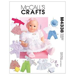 McCall-039-s-4338-Sewing-Pattern-to-MAKE-Baby-Doll-Clothes-suitable-for-Zapf-Dolls