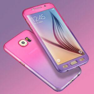 360-ULTRA-FINO-Hibrido-Rigido-Funda-para-Samsung-Galaxy-S6-S6-S7-EDGE