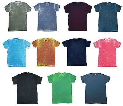 Multicolor Acid Wash T-shirts  Adult S 3XL Short Sleeve 60//40 Cotton//Polyester