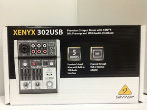 BEHRINGER-XENYX-302-USB-5-Input-mixer-USB-Audio-Interface-from-JAPAN-NEW