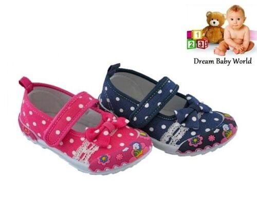 in 2 lovely colours NEW!! ATLETICO girls canvas shoes trainers size 3-7 UK