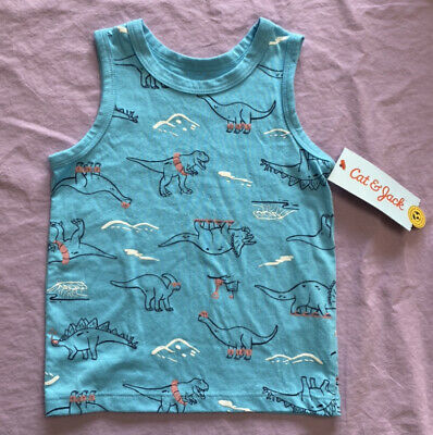 Details about  /Cat /& Jack toddler Boys Dino tank top blue