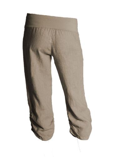 Da Donna Tagliato 3//4 Tre Quarti Elastico Donna Capri Pantaloni Pantaloni Delle Colture
