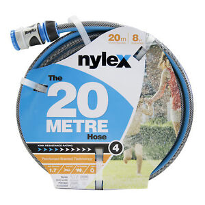 Image is loading Nylex-GARDEN-HOSE-12mmx20m-Fitted-With-Anti-Leak-  sc 1 st  eBay & Nylex GARDEN HOSE 12mmx20m Fitted With Anti Leak Connectors ...