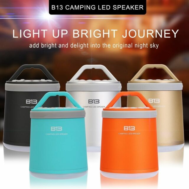 Camping Bluetooth AUX Outdoor Speaker LED Light Lamp for iPhone iPod Android