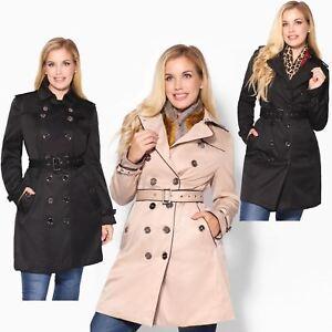 best website e4c87 c029b Details zu KRISP Damen Klassischer Trench Coat Mantel Trenchcoat Herbst  Winter Jacke Neu