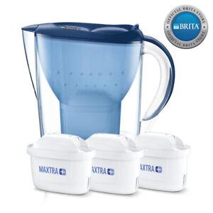 NEW-Brita-Marella-Water-Filter-Jug-2-4L-3-x-MAXTRA-Filters-Bundle-Cool-Blue