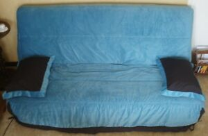 Housse Clic Clac Molletonnee 130 X 190 Cm Angel Bleu Turquoise Conforama Ebay