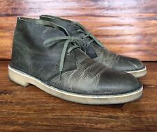 the best attitude d2fc4 25afc item 8 Men s Clarks Originals Desert Chukka Boots Olive Green Leather 8 M -Men s  Clarks Originals Desert Chukka Boots Olive Green Leather 8 M