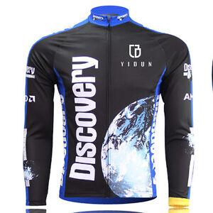 Discovery-Channel-Long-Sleeve-Cycling-Jerseys-Men-039-s-MTB-Road-Bike-Jersey-Top