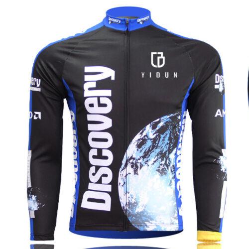 Discovery Channel Long Sleeve Cycling Jerseys Men/'s  MTB Road Bike Jersey Top