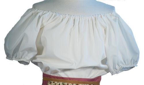 Estate Cotone shirt-maid-pirate-gypsy blouse-cream o brown-plus sizes-costume