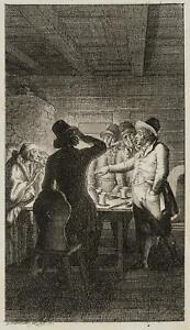 Chodowiecki (1726-1801). onesta economista in albero d'Orange; pressione grafico