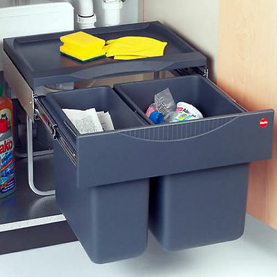 Integrated Double Kitchen Waste Bin